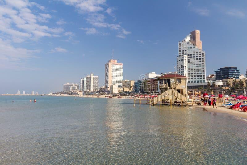 Playa en Tel Aviv, Israel imagen de archivo