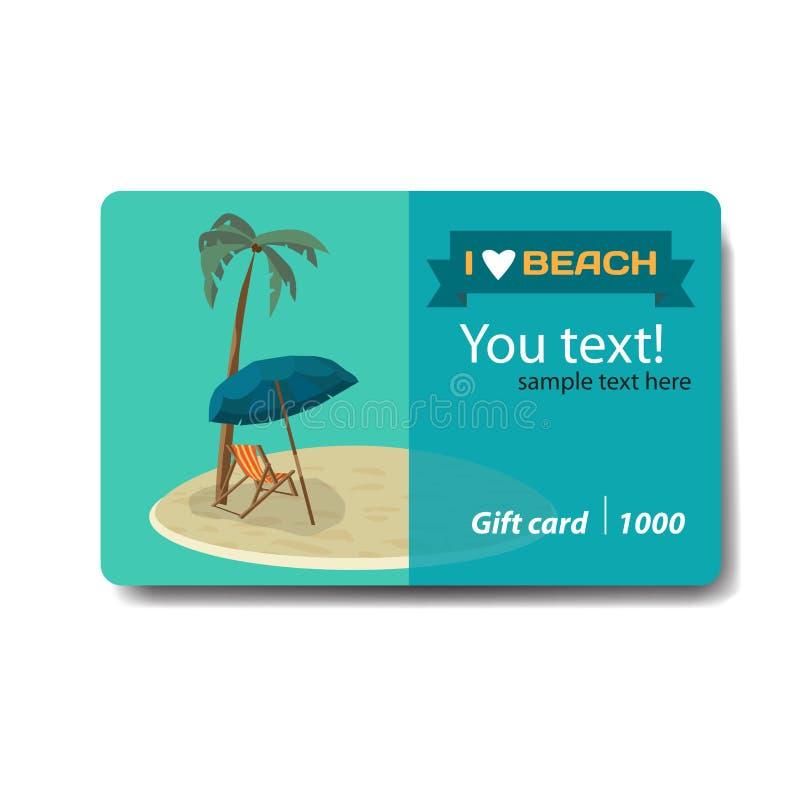 Playa en una pequeña isla, palmas del verano del paisaje del mar libre illustration