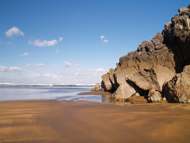 Playa en Vizcay, vasco de Laida imagen de archivo