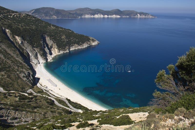 Playa escénica en la isla de Kefalonia foto de archivo libre de regalías
