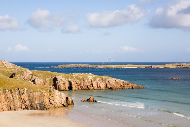 Playa escocesa fotografía de archivo libre de regalías