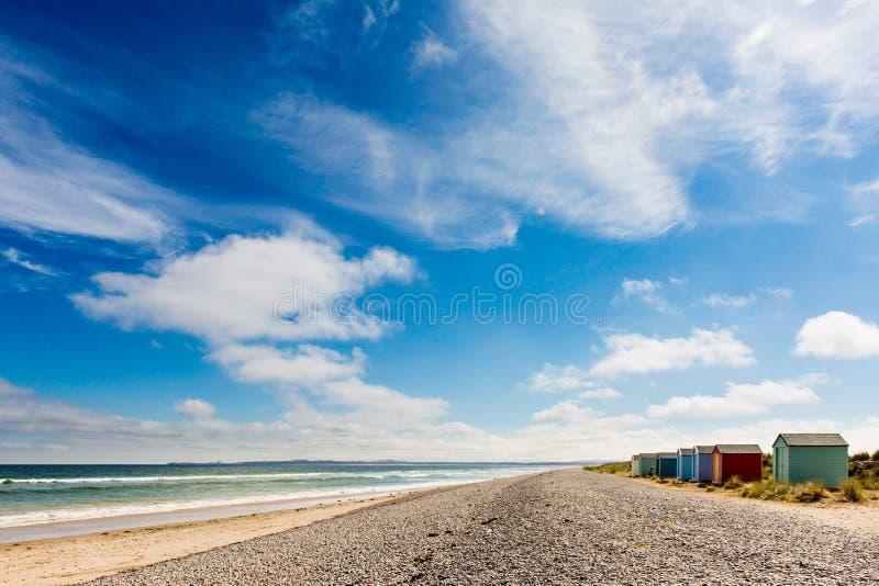 Playa escocesa del verano foto de archivo