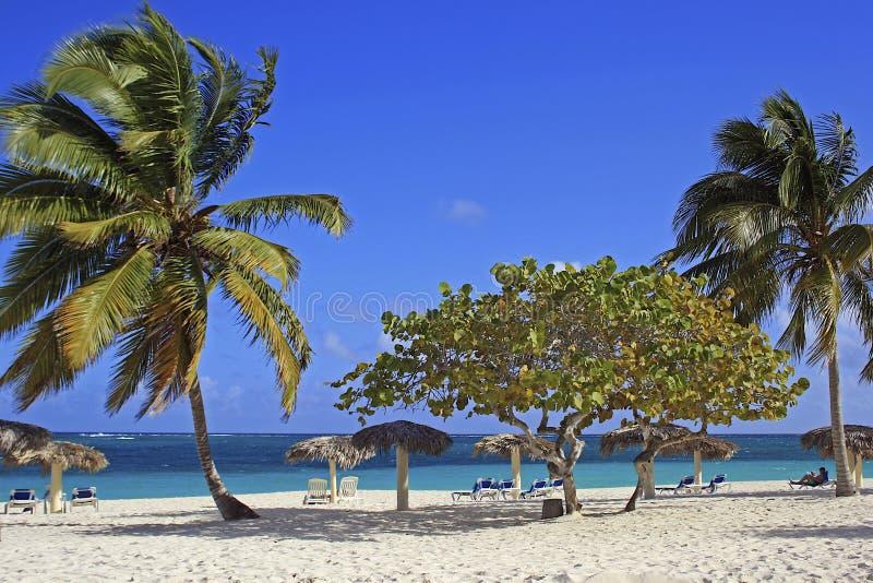 Playa Esmeralda, Holguin, Cuba. Panorama of Playa Esmeralda in Holguin, Cuba royalty free stock image
