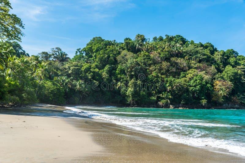 Playa Espadilla at Manuel Antonio Park - Costa Rica royalty free stock image