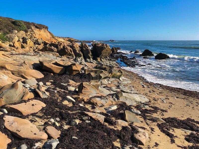 Playa Estatal Bean Hoolow Seascape de California fotos de archivo libres de regalías