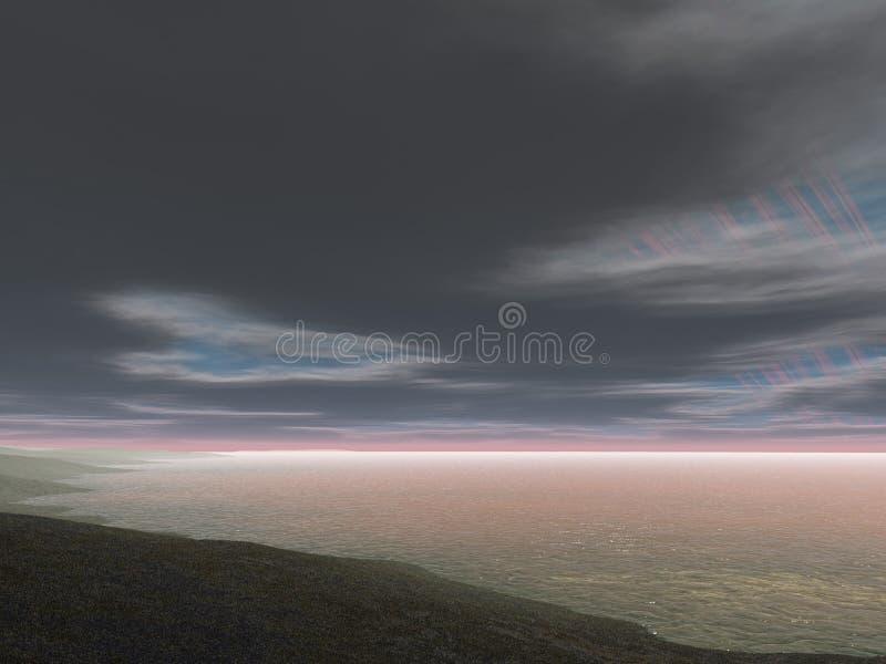 Playa extraña ilustración del vector