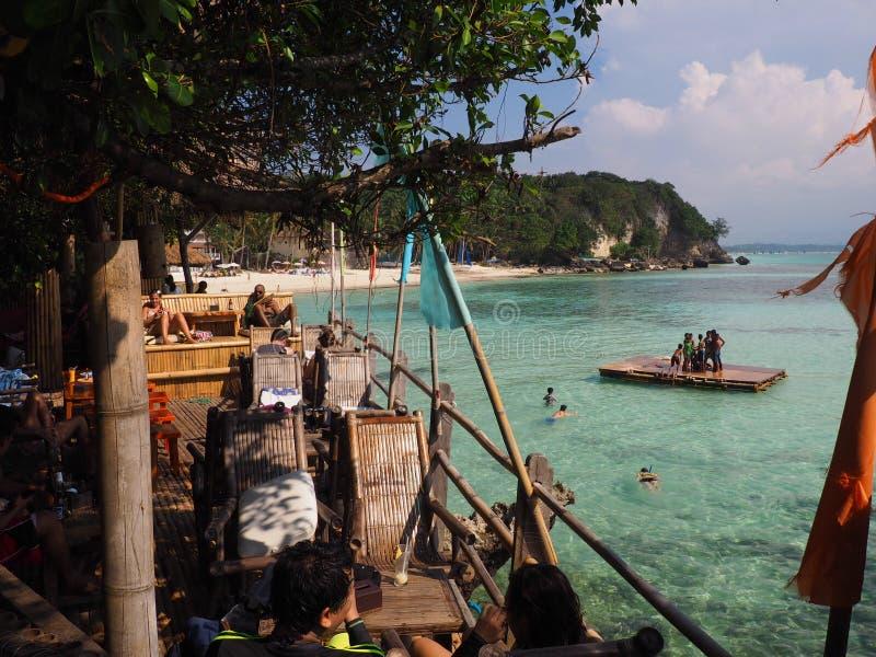 Playa Filipinas de Boracay foto de archivo