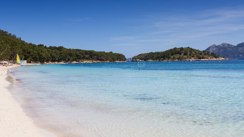 Playa Formentor imagenes de archivo