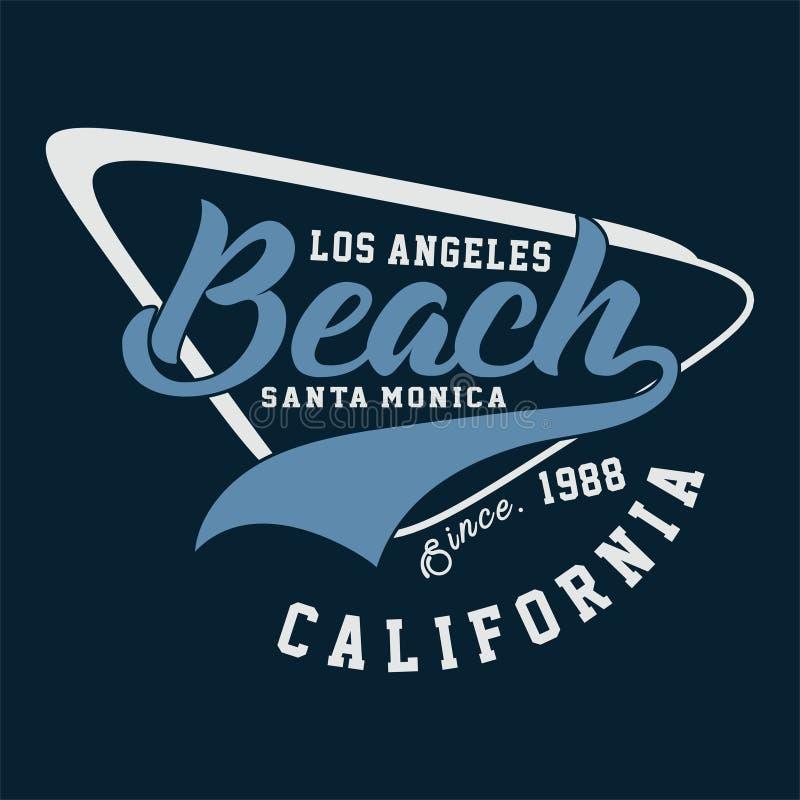 PLAYA gráfica CALIFORNIA de LOS ÁNGELES libre illustration