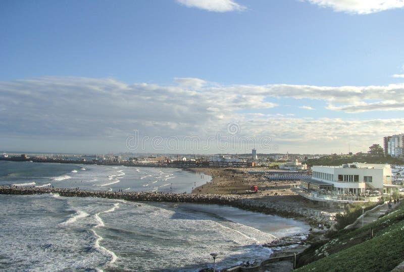 Playa Grande, Mar del Plata, Buenos aires stock fotografie