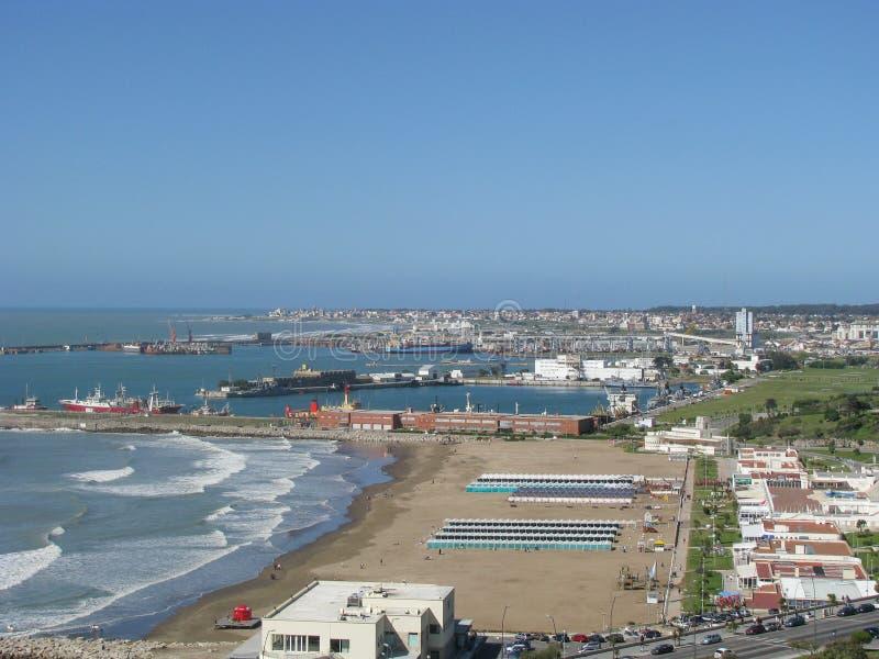 Playa Grande, Mar del Plata, Buenos aires royalty-vrije stock afbeelding
