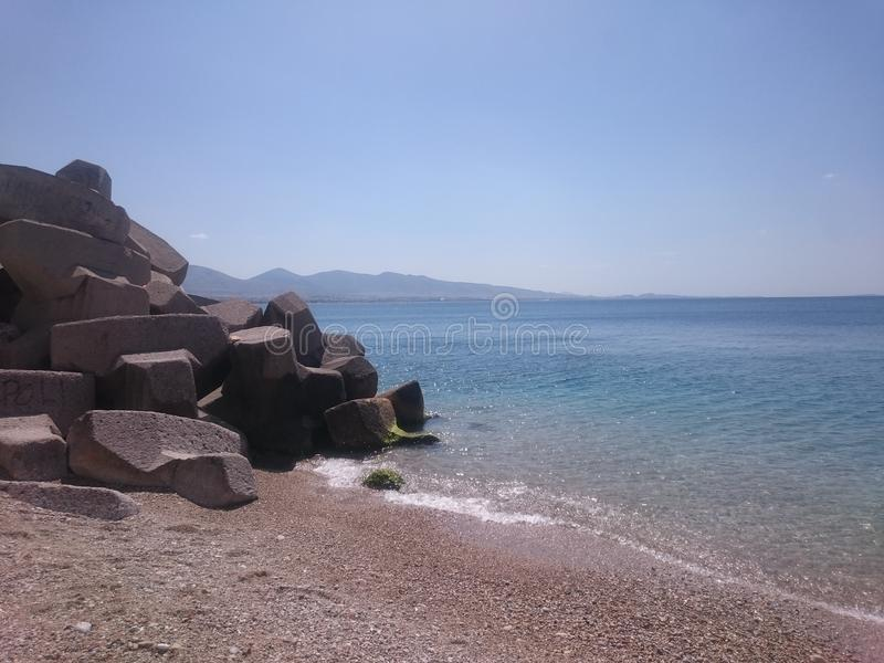 Playa Grecia fotos de archivo libres de regalías
