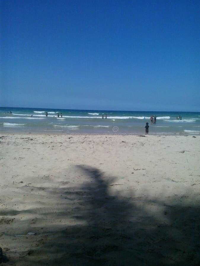 Playa Guacuco,委内瑞拉 免版税库存图片