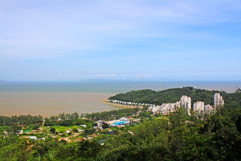 Playa Hac Sa, Macao, China imagen de archivo