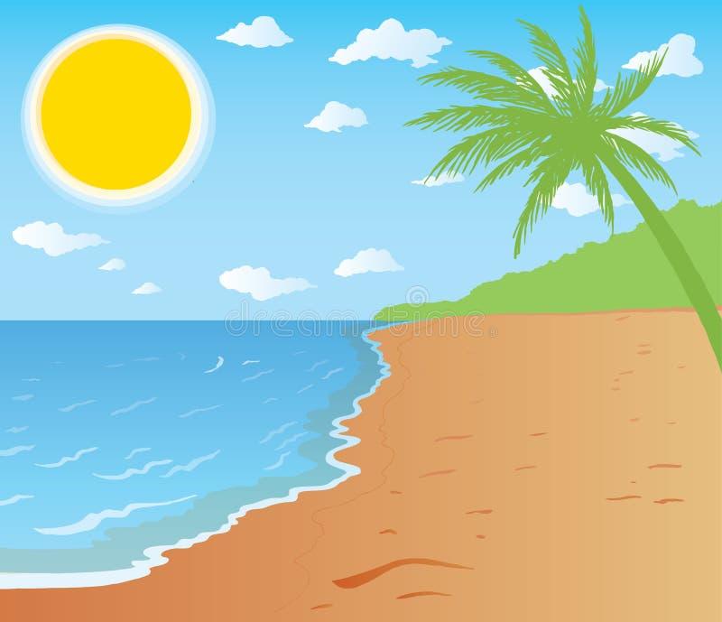 Playa hermosa ilustración del vector