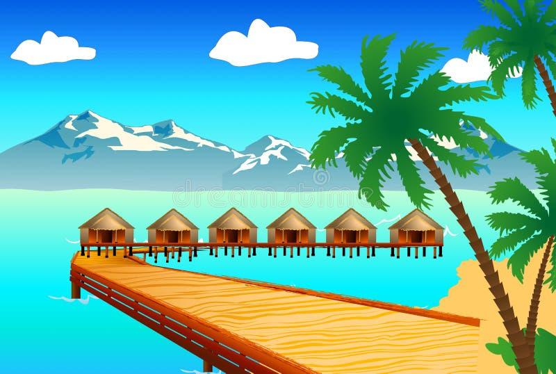 Playa hermosa stock de ilustración