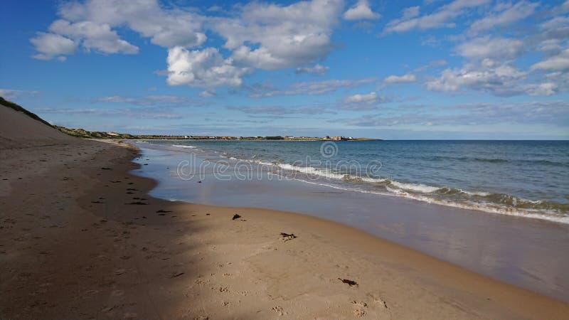 Playa hermosa de Beadnell del del sur fotografía de archivo libre de regalías