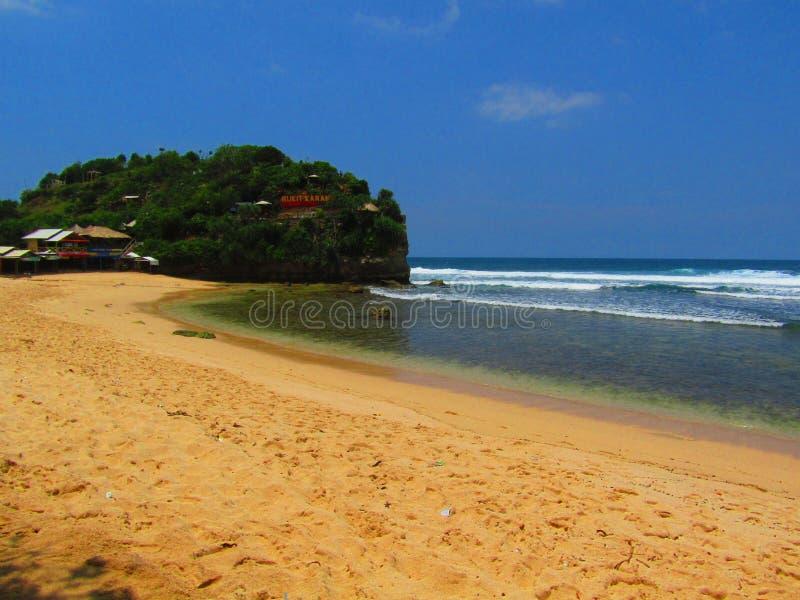 Playa hermosa de Indrayanti imagenes de archivo