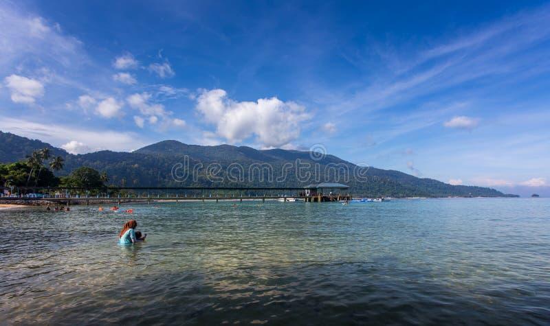 Playa hermosa de la isla de Tioman foto de archivo