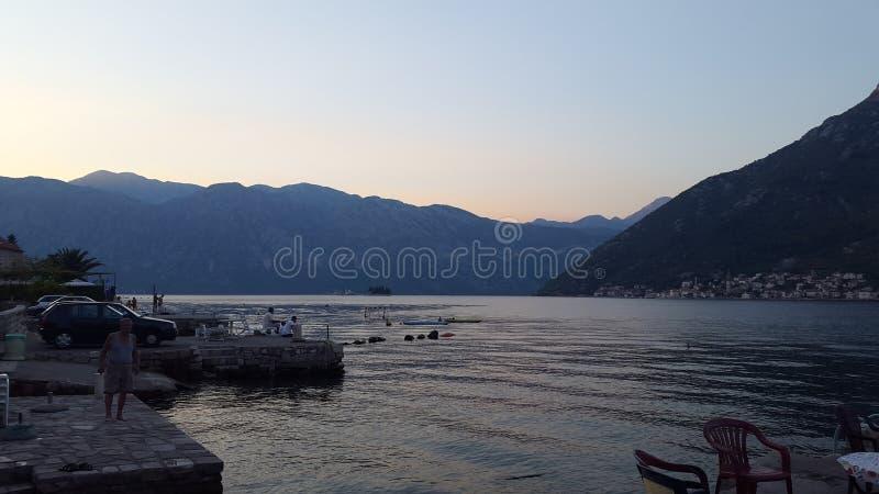 Playa hermosa de Montenegro imagen de archivo