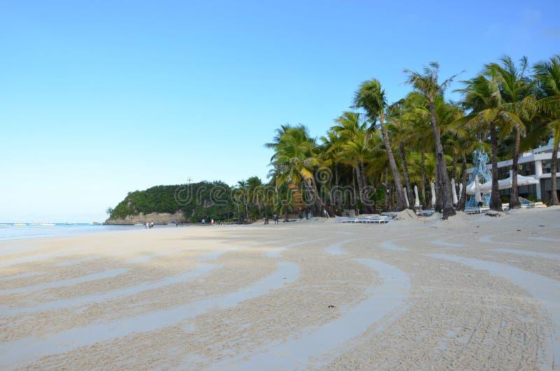 Playa hermosa durante madrugada foto de archivo libre de regalías