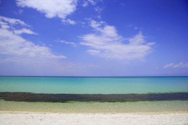 Playa hermosa en Grecia fotografía de archivo