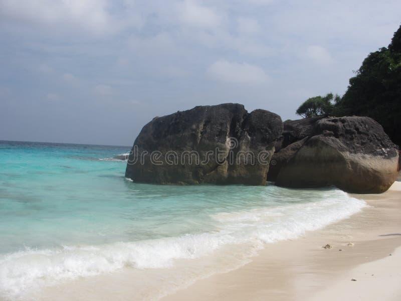 Playa hermosa en la isla de Similan, Tailandia foto de archivo
