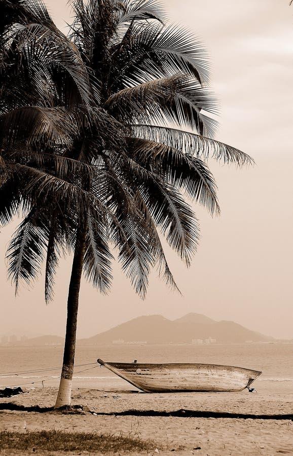 Playa hermosa en Sanya fotos de archivo