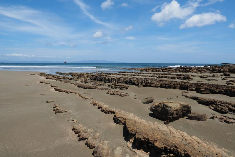 Playa Hermosa, Nicaragua, Midden-Amerika stock fotografie
