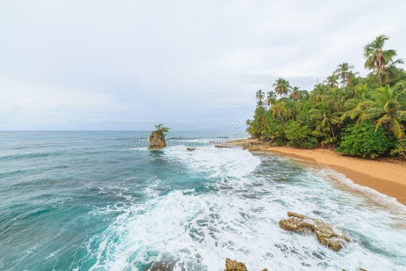 Playa idílica Manzanillo Costa Rica foto de archivo