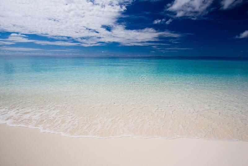 Playa ideal tropical foto de archivo libre de regalías