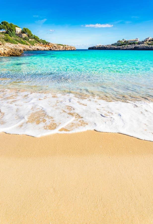 Playa imponente con la agua de mar de la turquesa fotografía de archivo libre de regalías