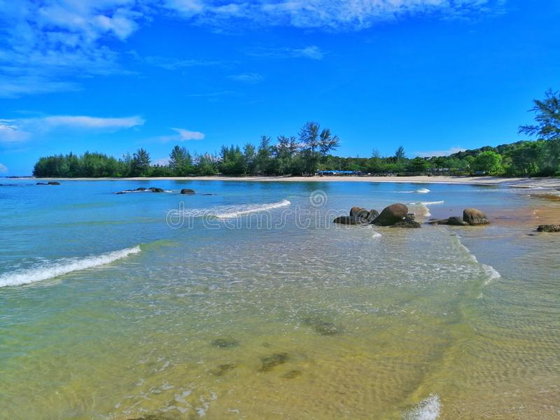 Playa Indonesia del pinang de Tanjung imagen de archivo libre de regalías