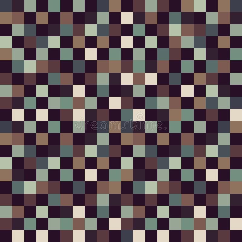 Playa invisible del color de Art Pattern Vector del pixel ilustración del vector