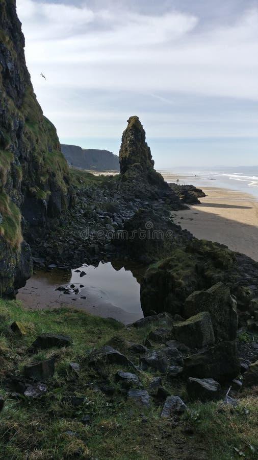 Playa irlandesa septentrional imagen de archivo libre de regalías