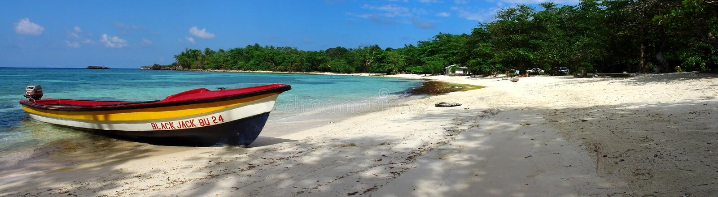 Playa Jamaica de Winnifred foto de archivo libre de regalías