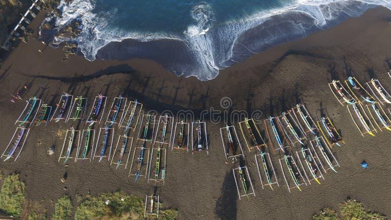 Playa Jember, Java Oriental de Payangan fotografía de archivo