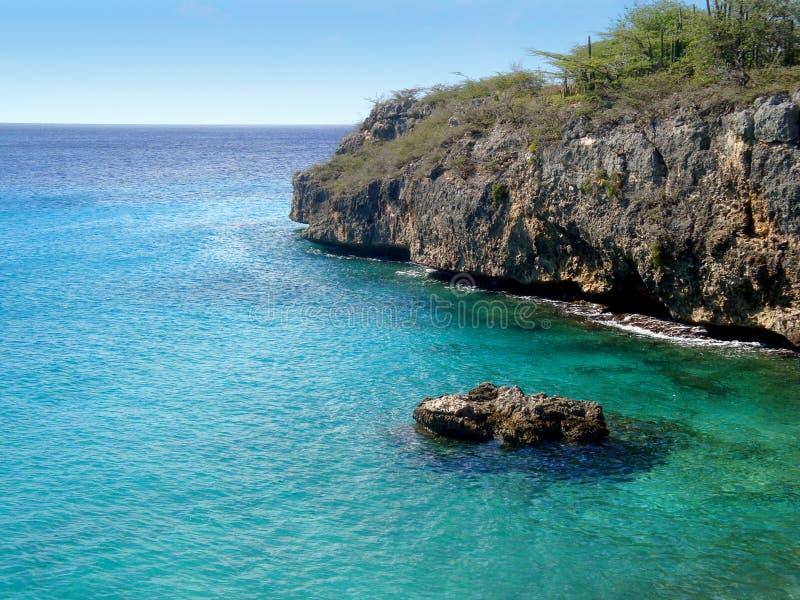 Playa Jeremi em Curaçau fotos de stock