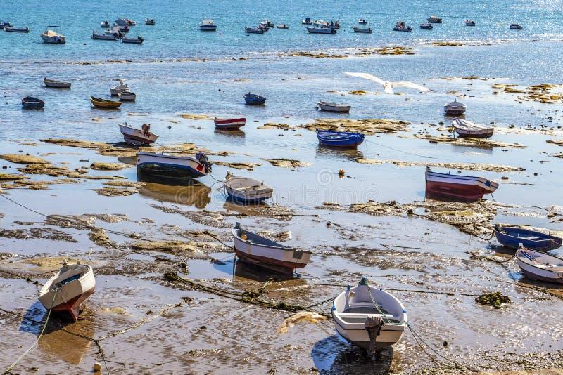 Playa-La Caleta oder La Caleta-Strand, Cadiz, Spanien lizenzfreies stockbild