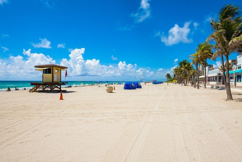 Playa la Florida de Hollywood fotografía de archivo