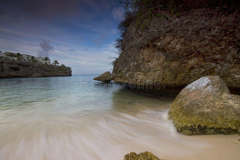 Playa Lagun Curaçao royaltyfria bilder
