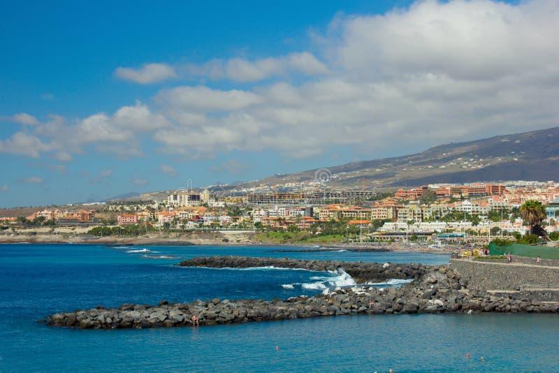 Playa Las Americas, Tenerife, Spain stock photography