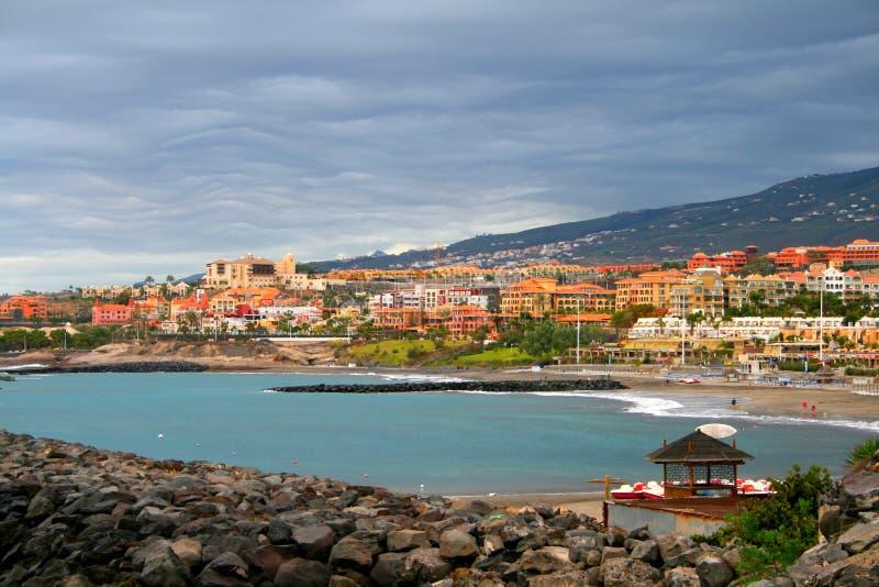 Playa Las Amerika, Tenerife, Spanje royalty-vrije stock foto's