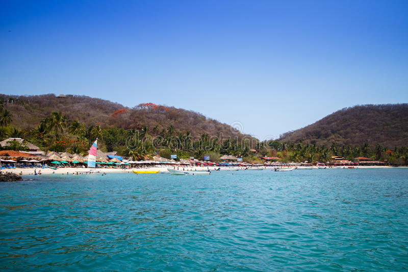 Playa lasy Gatas od łodzi. obrazy stock
