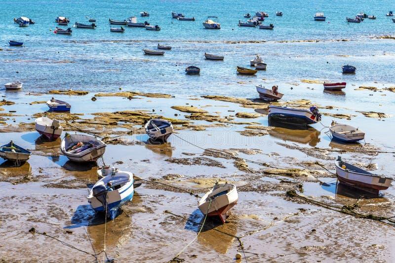 Playa los angeles Caleta lub losu angeles Caleta plaża, Cadiz, Hiszpania zdjęcie royalty free