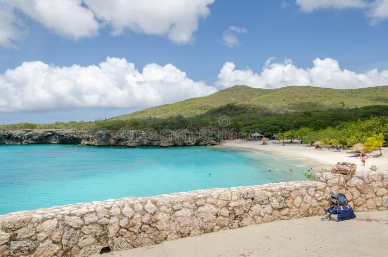 Playa magnífica de Knip en Curaçao en las Antillas holandesas fotos de archivo