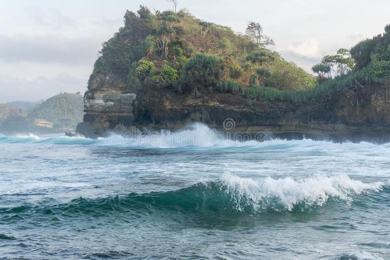 Playa Malang Indonesia de Batu Bengkung imagen de archivo