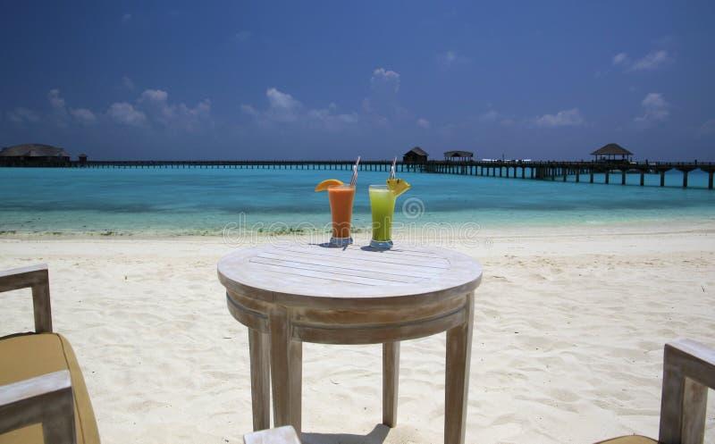 Playa Maldivas tropicales imágenes de archivo libres de regalías