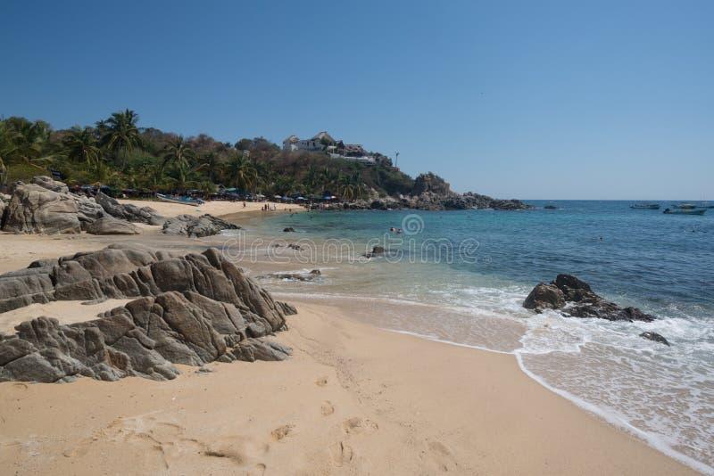 Playa Manzanillo, Oaxaca, Messico fotografia stock libera da diritti
