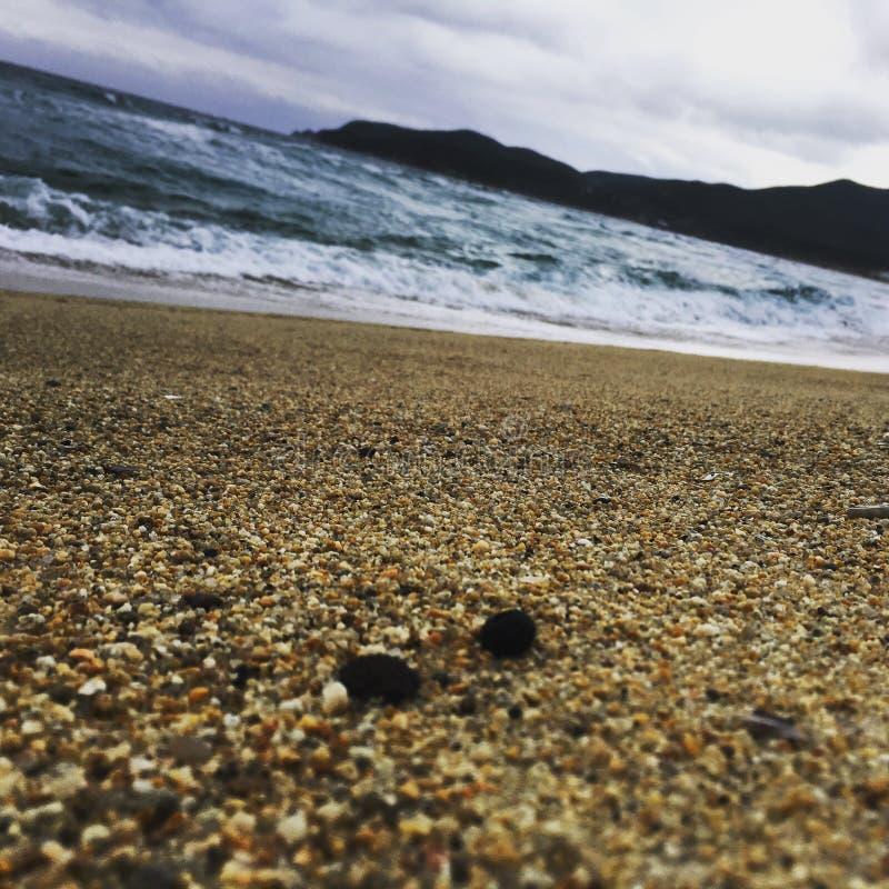 Playa-Mar-ondas foto de archivo
